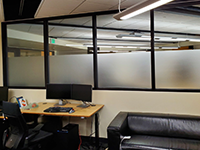 Privacy Window Film Application
